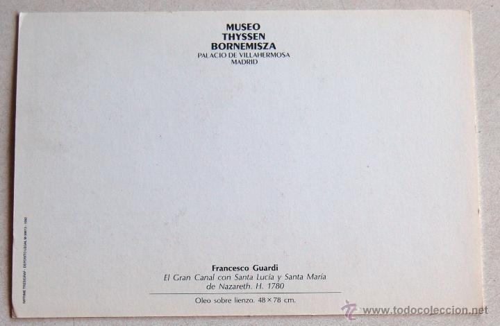 Postales: POSTAL DEL CUADRO EL GRAN CANAL DE FRANCHESCO GUARDI. - Foto 2 - 44247929