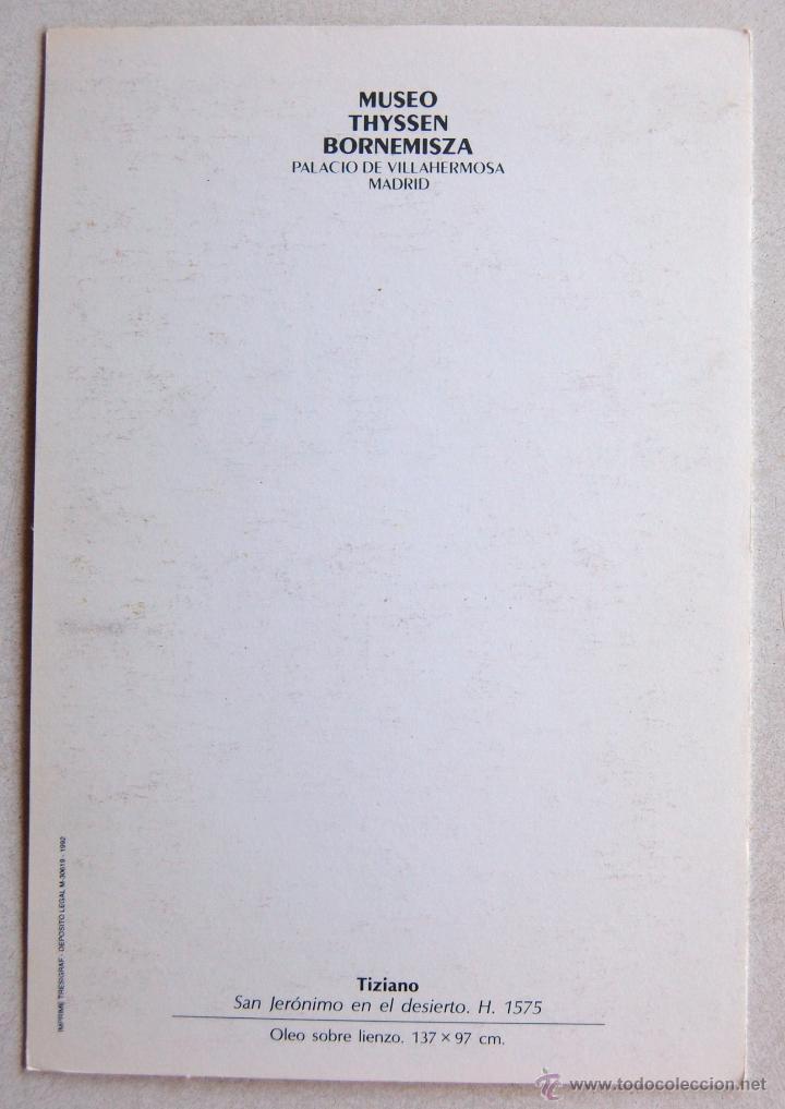 Postales: POSTAL DE SAN JERONIMO EN EL DESIERTO DE TIZIANO. - Foto 2 - 44248368