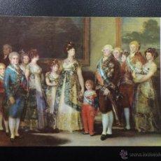 Postales: POSTAL GOYA - LA FAMILIA DE CARLOS IV - MUSEO DEL PRADO Nº726.. Lote 45719641