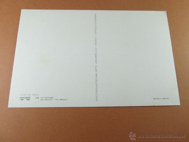Postales: Aª POSTAL-LAS MENINAS-MUSEO DEL PRADO-1959-SIN CIRCULAR-ED.OFFO-SIN CIRCULAR-VER FOTOS. - Foto 3 - 45757034