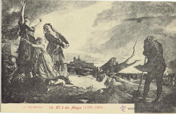 PS5078 V. PALMAROLI 'EL 3 DE MAYO (1808-1908)'. LACOSTE. SIN CIRCULAR (Postales - Postales Temáticas - Arte)