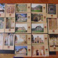 Postales: EXCELENTE LOTE DE 25 POSTALES DEL PATRIMONIO ARTISTICO ASTURIANO. PRINCIPADO DE ASTURIAS. GRAFICAS S. Lote 46014183