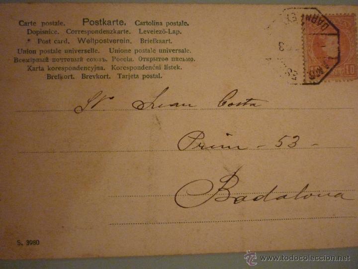 Postales: ARTISTA DE LA ÉPOCA. DESCONOZCO QUIEN ES. CIRCULADA 1903 - Foto 2 - 46194118