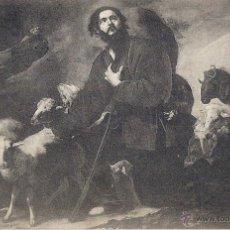 Postales: EL ESCORIAL. SALAS CAPITULARES. EL BUEN PASTOR. (RIBERA).8 DE OCTUBRE 1918.. Lote 46312009