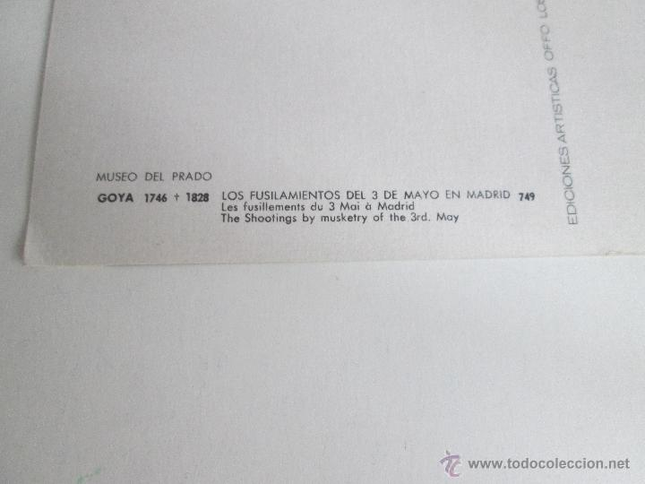 Postales: Aª POSTAL-GOYA-MUSEO DEL PRADO-LOS FUSILAMIENTOS DEL 2 DE MAYO-1959-NUEVA-SIN CIRCULAR-VER FOTOS. - Foto 2 - 46437017