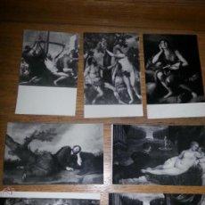 Postales: 7 POSTALES MUSEO DEL PRADO, FOT. HAUSER Y MENET. Lote 46680274