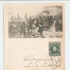Postales: POSTAL CIRCULADA EN 1903. ESCENA DE GUERRA. Lote 46788970