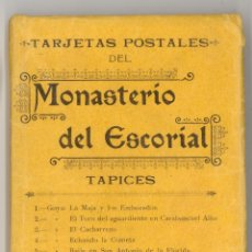 Postales: ALBUM DE 10 POSTALES DE LOS TAPICES DEL MONASTERIO DEL ESCORIAL, DE HAUSER Y MENET MADRID. Lote 46791380