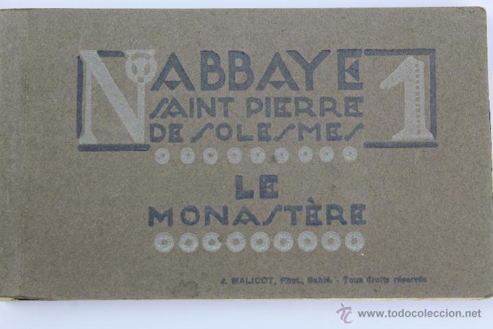 BP-14. LIBRITO DE 20 POSTALES ABBAYE SAINT PIERRE DE SOLESMES. (LE MONASTÈRE). Nº 1. AÑOS 40. (Postales - Postales Temáticas - Arte)