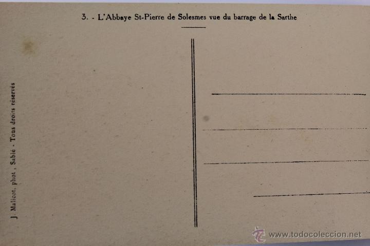Postales: BP-14. LIBRITO DE 20 POSTALES ABBAYE SAINT PIERRE DE SOLESMES. (LE MONASTÈRE). Nº 1. AÑOS 40. - Foto 3 - 47199617