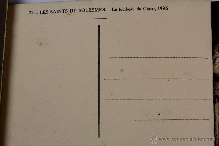 Postales: BP-LIBRITO DE 20 POSTALES ABBAYE SAINT PIERRE DE SOLESMES. L'EGLISE & SES SCULPTURES. Nº 2. AÑOS 40. - Foto 2 - 47199770