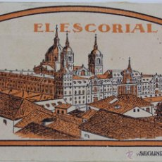 Postales: BP-9. LIBRITO 20 POSTALES EL ESCORIAL MADRID. AÑOS 30. SEGUNDA SERIE. HELIOTIPIA ARTISTICA ESPAÑOLA.. Lote 47200217