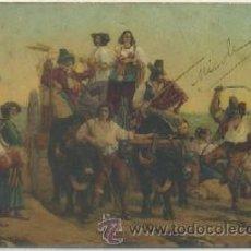 Postales: POSTAL DE ARTE. L'ARRIVÉE DES MOISSONNEURS DANS LES MARAIS PONTINS P-ARTE-393. Lote 276909318