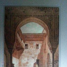 Postales: POSTAL GRANADA ALHAMBRA PATIO DE LA MEZQUITA MEXUAR REPRODUCCION GRABADO SIGLO XIX. Lote 36396085