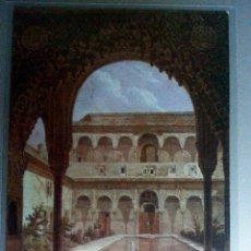 Postales: POSTAL GRANADA ALHAMBRA PATIO DE LOS ARRAYANES REPRODUCCION GRABADO SIGLO XIX. Lote 36396254