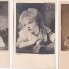 Postales: P- 596. LOTE 4 POSTALES OBRAS NATIONAL GALLERY. LONDRES AÑO 1947.. Lote 47831364