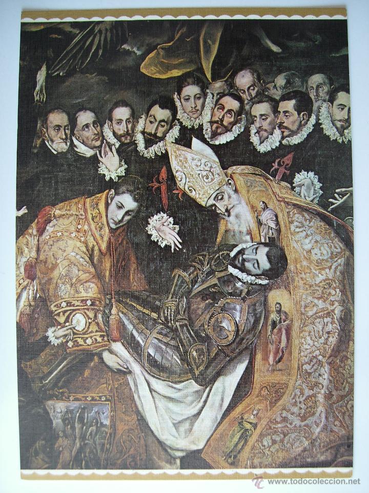 Postales: 3 postales de pintura. EL GRECO - El caballero de la mano al pecho (las otras 2 ver dentro) - Foto 2 - 33020422