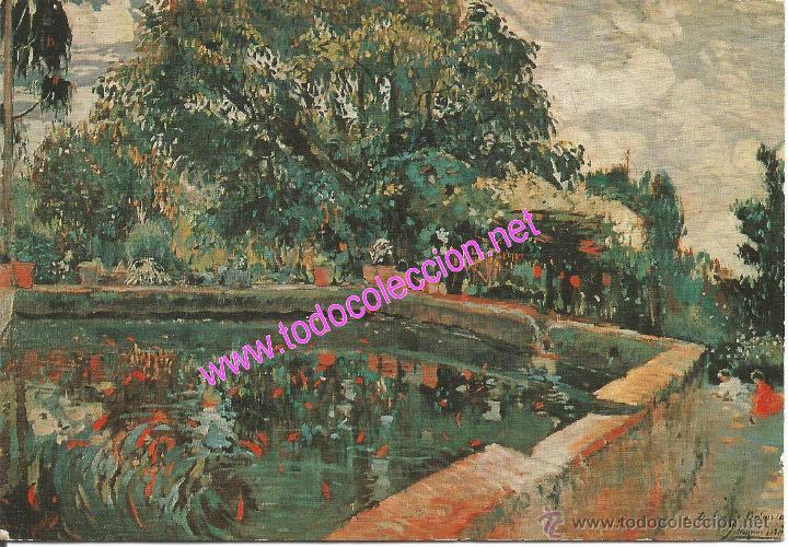 JOAQUIM MIR TRINXET (1873-1940) - ESTANQUE (POSTAL DE 1972) (Postales - Postales Temáticas - Arte)