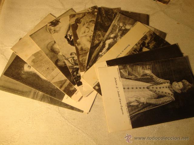 ANTIGUO LOTE COLECCION DE 11 POSTALES ARTE CUADROS MUSEO DEL PARDO EDI. LACOSTE (Postales - Postales Temáticas - Arte)