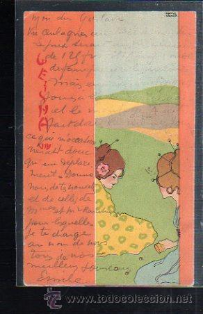 TARJETA POSTAL DE RAPHAEL KIRCHNER. GEISHA (Postales - Postales Temáticas - Arte)