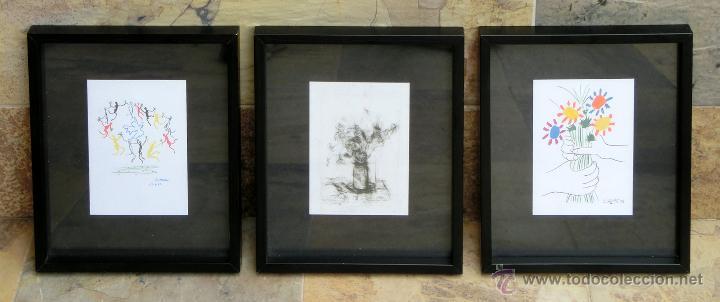 tres postales de picasso enmarcadas - molduras - Comprar Postales ...