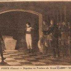 Postales: PONCE, CAMUS - NAPOLEÓN ANTE LA TUMBA DE FEDERICO EL GRANDE - MUSÉE DE VERSAILLES - SIN CIRCULAR. Lote 49450593