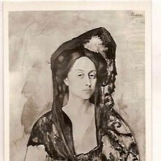 Postales: MUSEO DE ARTE MODERNO SERIE II Nº 9 PICASSO RETRATO DE LA SEÑORA DE CANALS ZERKOWITZ. Lote 50051346