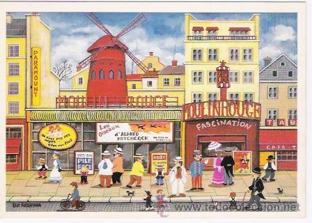 PARIS POSTAL DE LA ARTISTA JAPONESA BIN KASHIWA (Postales - Postales Temáticas - Arte)