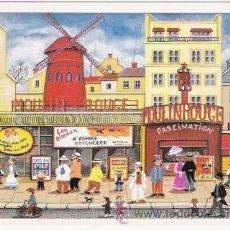 Postales: PARIS POSTAL DE LA ARTISTA JAPONESA BIN KASHIWA. Lote 258143425