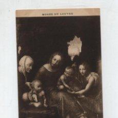 Postales: MUSÉE DU LOUVRE.- VINCI (ÉCOLE DE LIONARDO DA).- LA VIERGE AUX BALANCES.. Lote 50373386