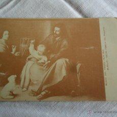 Postales: TARJETA POSTAL SAGRADA FAMILIA DEL PAJARITO - MURILLO - MUSEO DEL PRADO - Nº 854. Lote 51155443