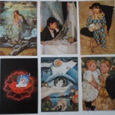 Postales: LOTE 6 POSTALES - ARTE -SEGANTINI - MARY CASSAT - WOLF - PICASSO - MORISOT - SIN CIRCULARA. Lote 51537722