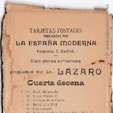 Postales: P- 2607. LA ESPAÑA MODERNA. 10 POSTALES: CUARTA DECENA. LAZARO.. Lote 51638611