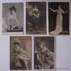 Postales: CINCO ANTIGUAS POSTALES DE ARTISTAS - AÑO 1903. Lote 51673639