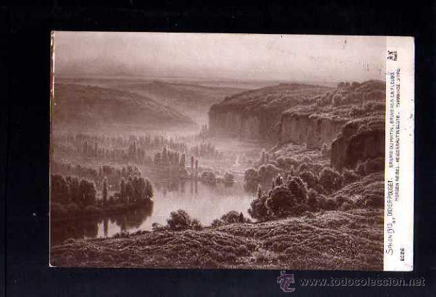 ANTIGUA POSTAL. SALON 1913 CIRCULADA 1914 (Postales - Postales Temáticas - Arte)