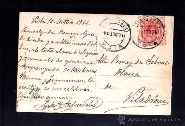Postales: Antigua postal. Salon 1913 Circulada 1914 - Foto 2 - 51801634