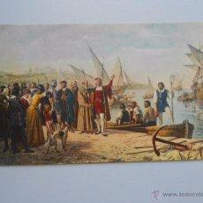 Postales: POSTAL R. BALACA. COLON SE DESPIDE DEL PRIOR DE LA RABIDA. SERIE PINTURA DE HISTORIA Nº 8. TDKP5. Lote 51960755