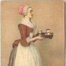Postales: JEAN ETIENNE LIOTARD, LA CHOCOLATERA - STENGEL & CO. NR. 29714 - SIN CIRCULAR. Lote 130101124