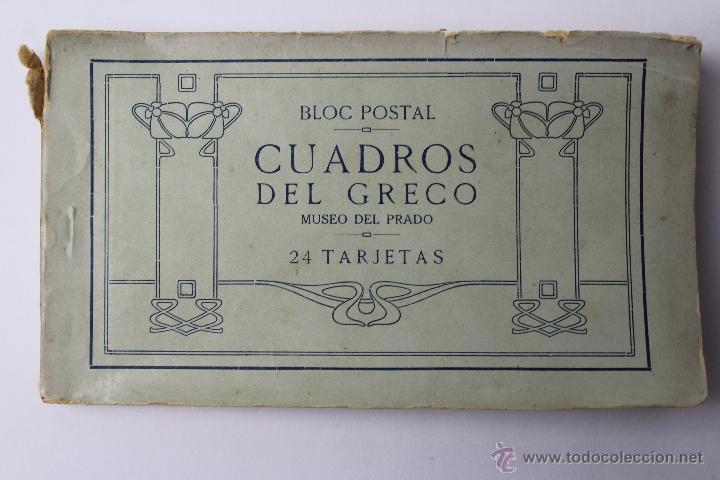 BP-54. CUADROS DEL GRECO. MUSEO DEL PRADO. BLOC POSTAL DE 24 TARJETAS.COMPLETO. (Postales - Postales Temáticas - Arte)