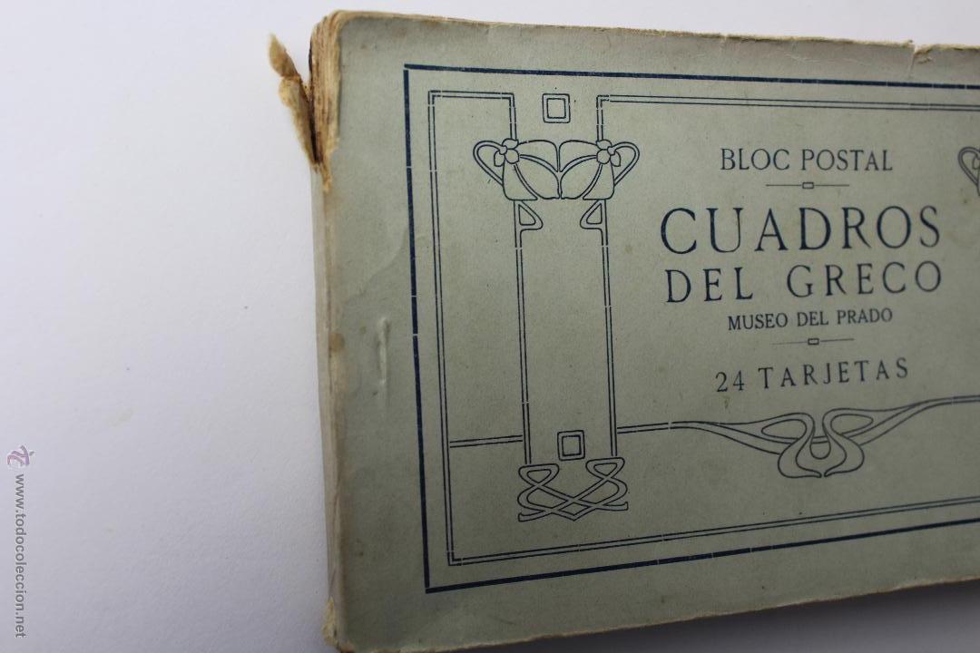 Postales: BP-54. CUADROS DEL GRECO. MUSEO DEL PRADO. BLOC POSTAL DE 24 TARJETAS.COMPLETO. - Foto 2 - 52436651