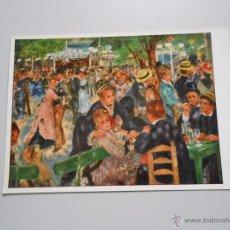 Postales: POSTAL AUGUSTE RENOIR. MOULIN DE LA GALETTE. PARIS LOUVRE. TDKP6. Lote 52545343