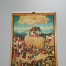 Postales: POSTAL MUSEO DEL PRADO MADRID. EL BOSCO. EL CARRO DE HENO TABLA CENTRAL. TDKP6. Lote 52558476
