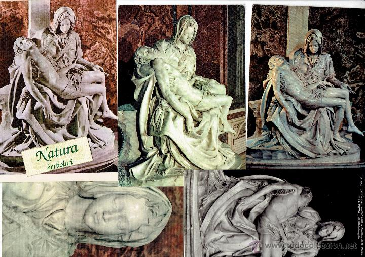LA PIEDAD. MIGUEL ANGEL. 5 POSTALES. (Postales - Postales Temáticas - Arte)