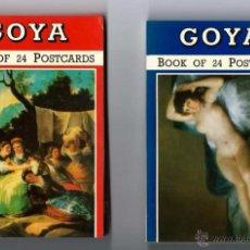Postales: GOYA BOOK OF 24 POSTCARDS 24 POSTALES GOYA Nº 1 Y Nº 2 DOS LIBROS DE POSTALES. Lote 52942182