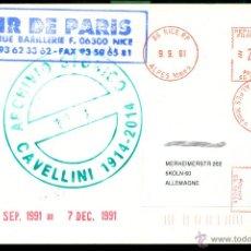 Postales: MAIL ART - CAVELLINI - 1991 - ARCHIVIO STORICO - GUGLIELMO ACHILLE CAVELLINI. Lote 52948329