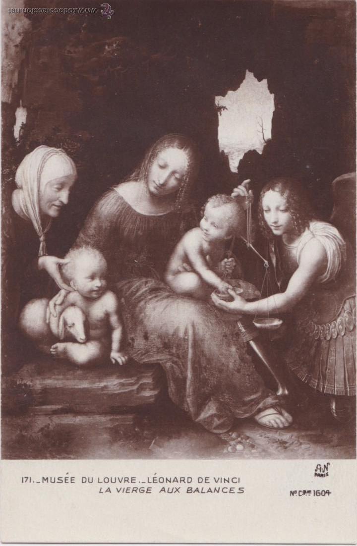 P- 3722. POSTAL DEL MUSEE DE LOUVRE. Nº 171. LA VIERGE AUX BALANCES. (Postales - Postales Temáticas - Arte)