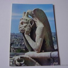 Postales: POSTAL DE NOTRE DAME PARÍS,GARGOLA,LE PENSAUR.SIN CIRCULAR. Lote 53200154