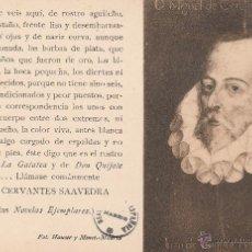 Postales: Nº 11831 POSTAL MIGUEL DE CERVANTES HAUSER Y MENET. Lote 53658742