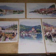 Postales: 5 PRECIOSAS POSTALES DE MAURICE REYMOND, BAVENO, BELLAGIO, ISOLA BELLA, CANNOBBIO, OBERHOFEN. Lote 54049311