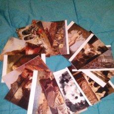 Postales: COLECCION 15 POSTALES DE OBRAS DEL MUSEO DE MALAGA EDIT. ESCUDO DE ORO AÑOS 70 SIN CIRCULAR. Lote 54114787